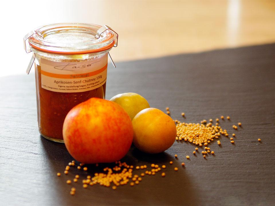 Aprikosen-Senf-Chutney