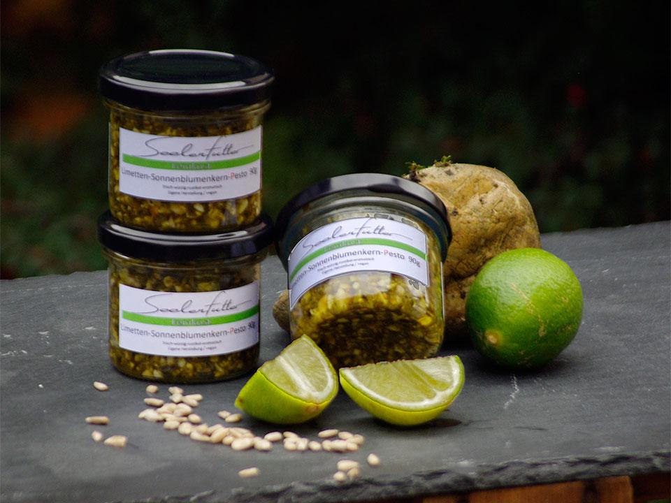 Limetten-Sonnenblumenkern-Pesto