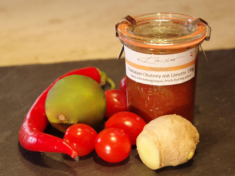 Tomatenchutney mit Limette